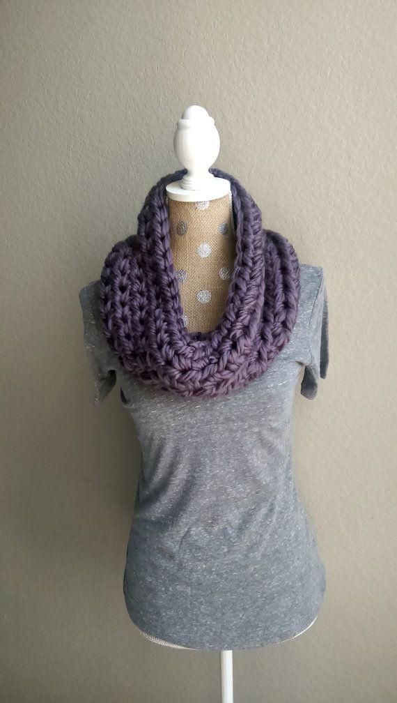 Super Chunky Crochet Cowl Chunky Crochet Scarf by TheSnugglery