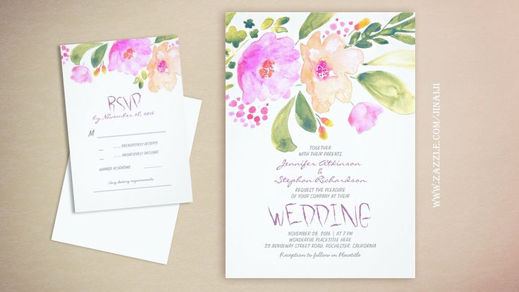 read more – FLORAL WATERCOLOR WEDDING INVITATIONS | Wedding and Party Invitations