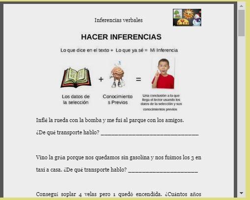 Logopedia en especial: Inferencias verbales y absurdos verbales