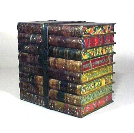 'Bundle of Books' Huntley & Palmers biscuit tin - 1880, ca.: Books Art, Books Al, Stack Of Books