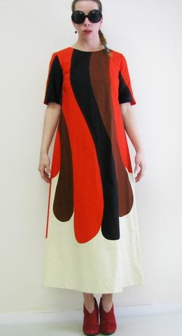 Marimekko dress from Finland, issued as a promotional item.