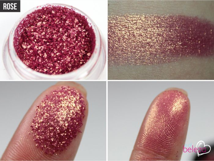 Mac Rose pigment....flipping love it. I'm adventurous with my eyeshadows and I've been loving pinks & reds....this wins the race though! Incredible