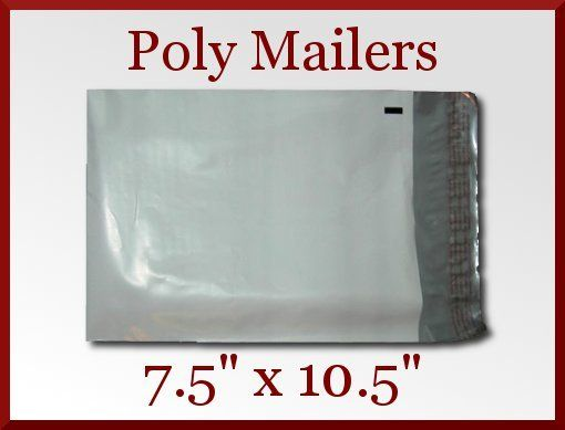 50 Self Seal 7.5 x 10.5 in White Poly Mailer Bags Envelope Made in America   Packing and Shipping Supplies Galore at CDVDMart