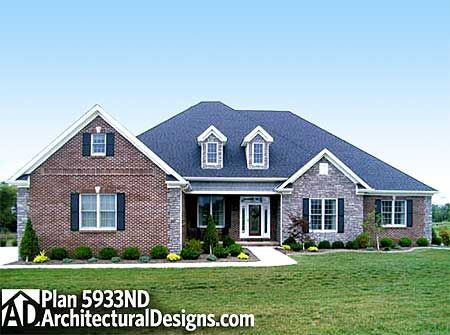 Plan 5933nd Open Living House Plans French Country And