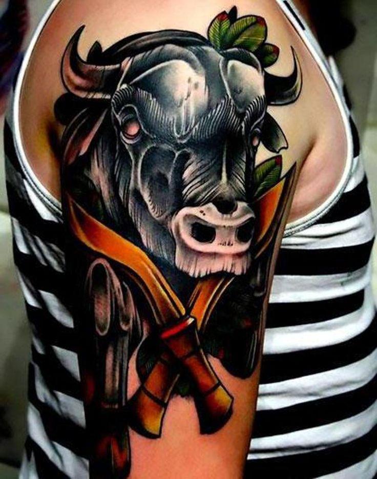 фото тату с быками опять всегда, экслибрис