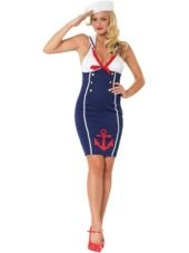 Adult Ahoy There Hottie Sailor Costume -Clearance Costumes -Sexy Costumes -Halloween Costumes - Party City