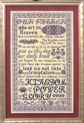 See the pretty The Lord's Prayer (cross stitch) at Nordic Needle