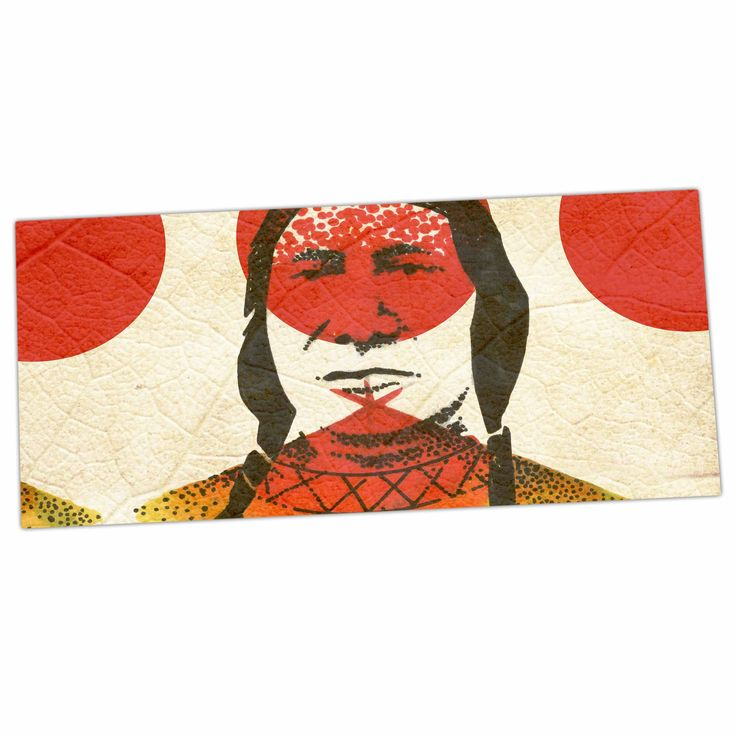 "Ivan Joh ""Indian"" Red Beige Desk Mat"