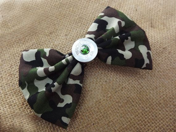 Camo hair bow shotgun hair accessories by SouthernTouchDesigns