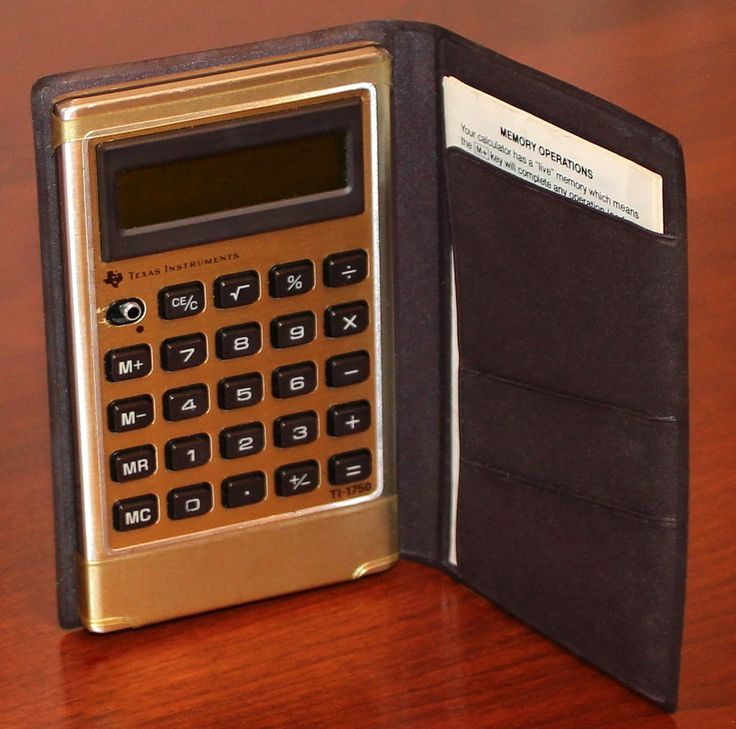 Electronic Instruments Books : Best vintage pocket calculator mostly electronic