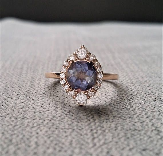 Introducing the Jasmine!!! This Stunning PenelliBelle Exclusive Design Features a Vintage Inspired Halo with .44 Carats of Natural Full Cut Diamonds. Set with a 1.2 Carat AAA Quality Iolite. Absolutely Stunning!! Makes a Gorgeous Engagement Ring!! FOR RING SALES You have 7 days to
