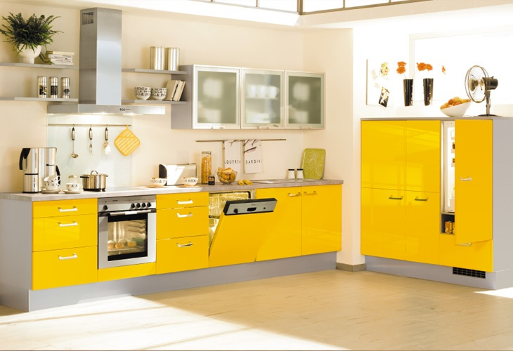 k che in gelb eckk che gelbe k chen pinterest yellow kitchens. Black Bedroom Furniture Sets. Home Design Ideas