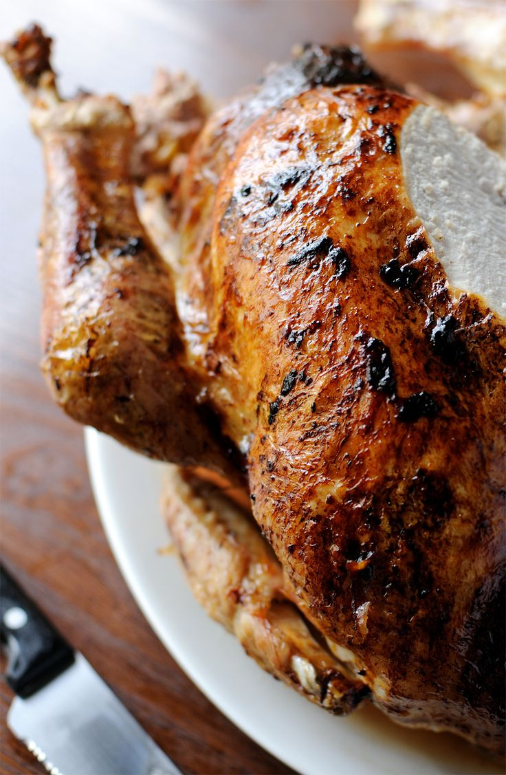 In this Christmas turkey recipe from Dominic Chapman, the bird is first steamed with aromatics, then roasted until the skin is crisp.