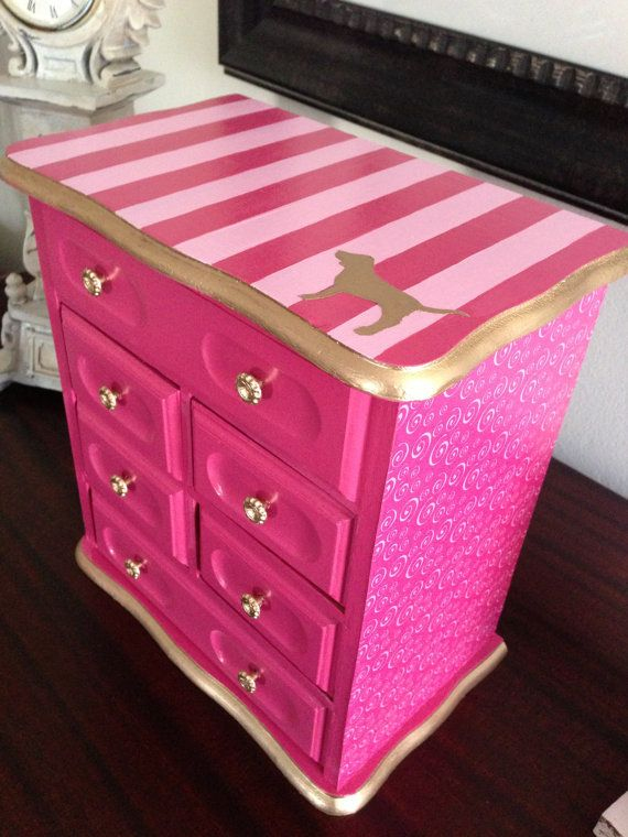 PINK inspired jewelry box<3  Victoria's Secret Pink - Pink -vs pink - vs - cute clothes - work out clothes - pajamas