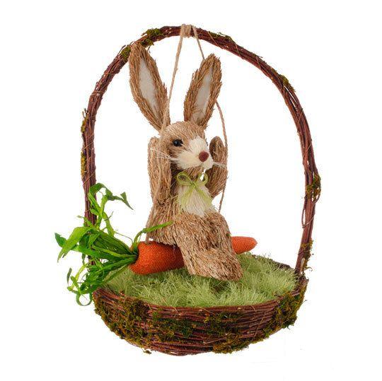 She's fine easter jubilee bunnies swinging decoration