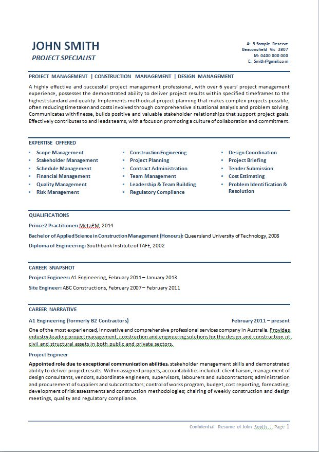 sample resume civil engineer australia civil structural