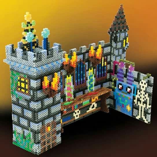 haunted castle 3d perler fuse beads 3d perler beads beads