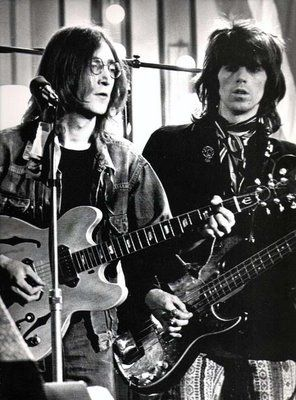 John Lennon & Keith Richards....so much greatness in one picture