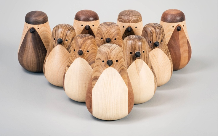 """These beautiful """"Re-Turned"""" birds by Norweian designer Lars Beller Fjetland are made 100% from recycled wood."""