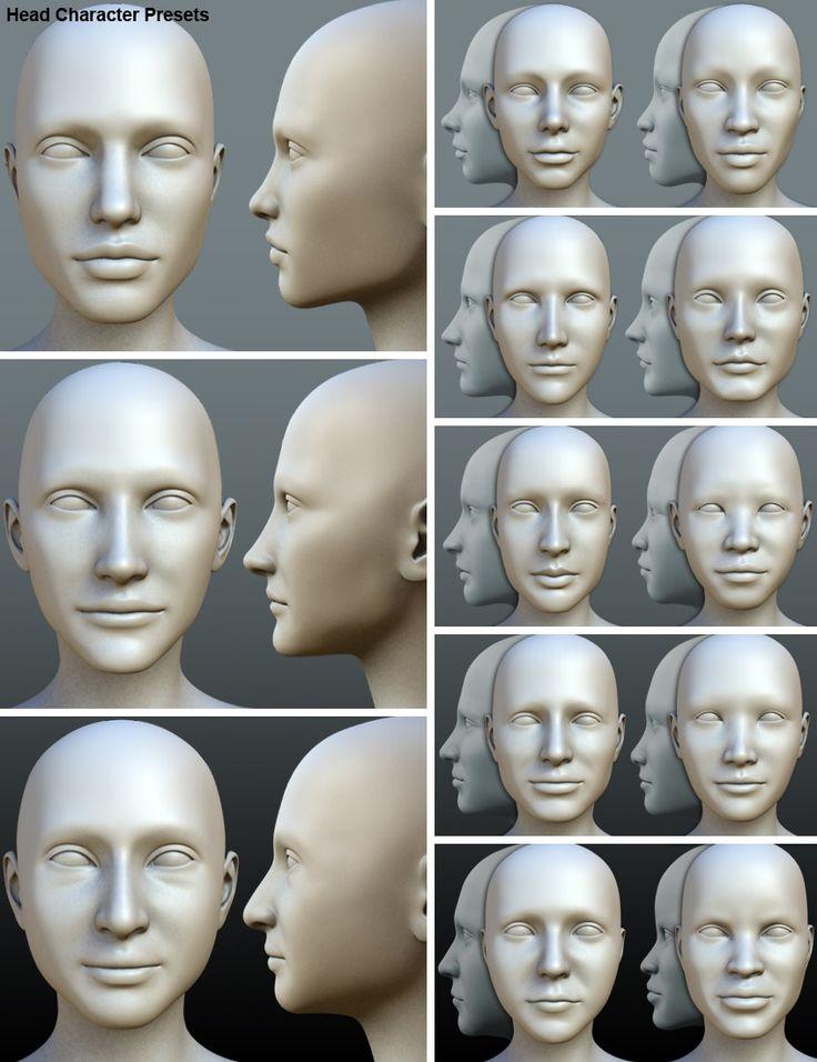 Фото лицо и голова в конче