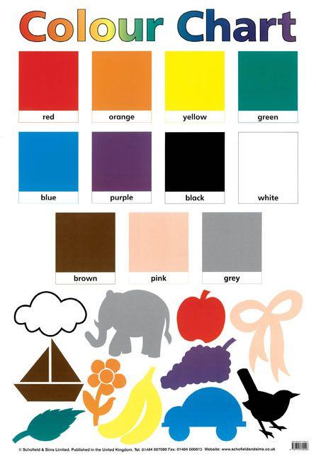 Colour Chart  #Colour #Art #KS1 #KS2 #EYFS #Teaching #Education #Classroom
