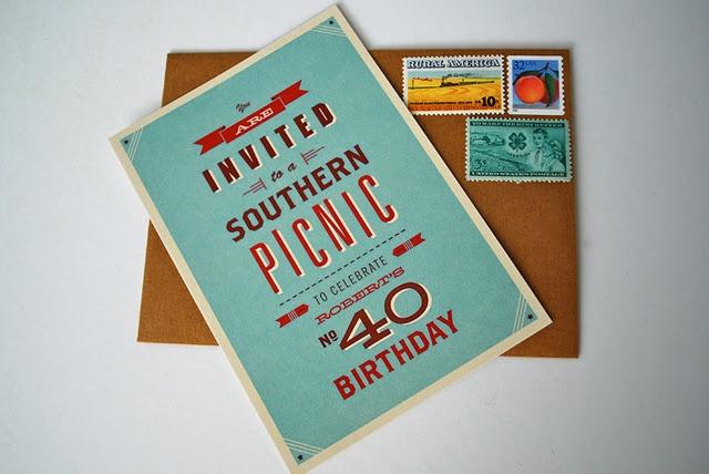 40th Birthday Party IdeasVintage Picnic, Birthday Parties, 40Th Birthday, Birthday Invitations, Southern Picnics, Parties Ideas, Picnics Parties, Picnic Parties, Birthday Southern