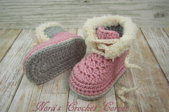 Ragazza del bambino Crochet stivali scarpe di NorasCrochetCorner