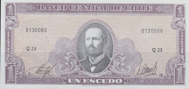 Chile - One Escudo Banknote.