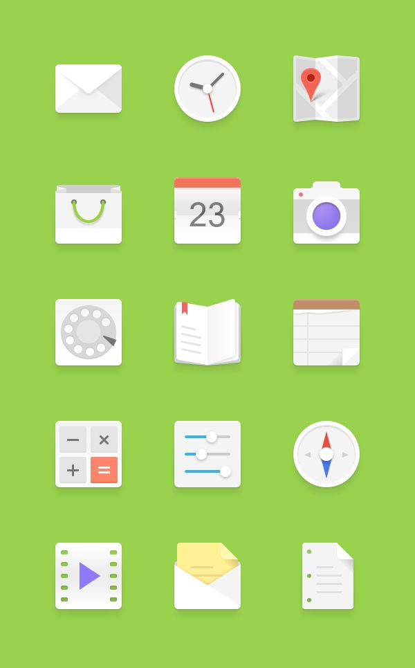 GraphicBurger » Light Android Icons Set