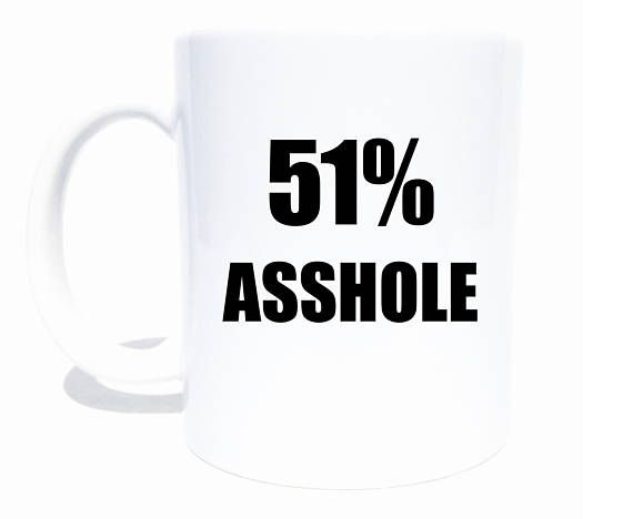 Funny Coffee Mug for Men  Birthday Gift for Men  Asshole