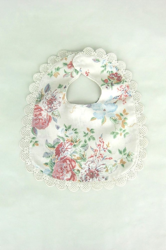 My Darling No4    Baby Bib    Hand Made    Floral    by Bedelias, $12.00