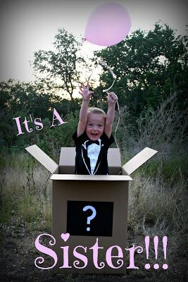 Gender Reveal Idea with sibling