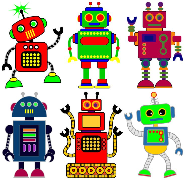 Robot clipart for your project or classroom. Free PNG files that will size to A3. Classroom Clipart.