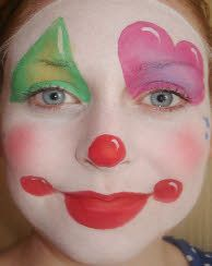 face paint.. clown