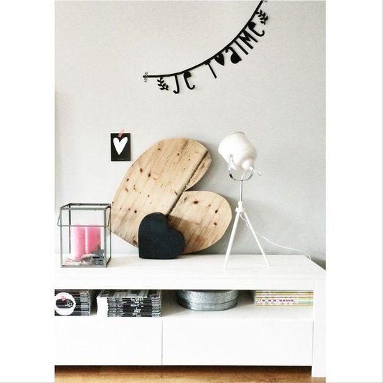 Letterslinger/DIY Word Banner, zwart - Goodiebagshop