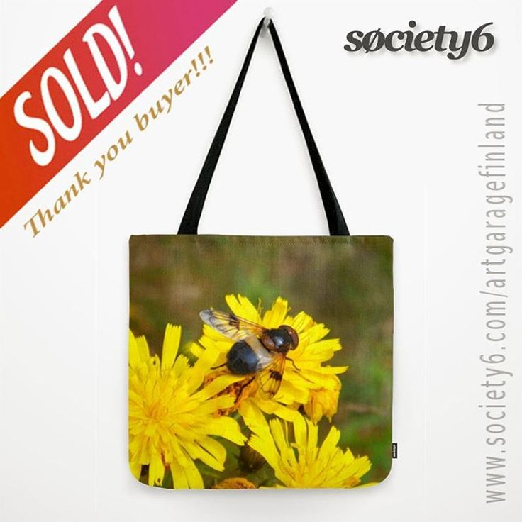 Sold!!  ...thanks to the buyer of this tote-bag design called 'Ready for take off' from my @society6  webstore! #society6totebag #totebag #society6 #instafly #art #yellowflowers #fashionaccessories #fashion #shareyoursociety6 #society6 #artistsofinstagram #instanature #nature #fluga #instaphoto #insect #insectoftheday #insectilicious #flower #photography #bagsofinstagram #bee #fly