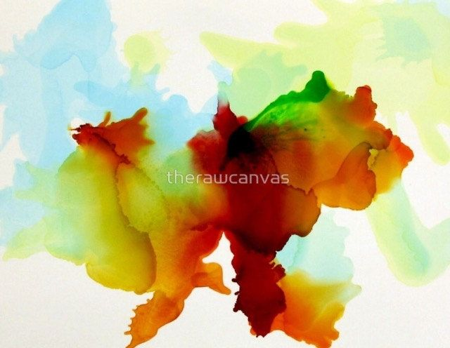 Alcohol Ink Print Colorful Art Board Bold Wall Art Fits Standard Frames Small Wall Art Gallery Wall Paintings Abstract Painting by therawcanvas on Etsy