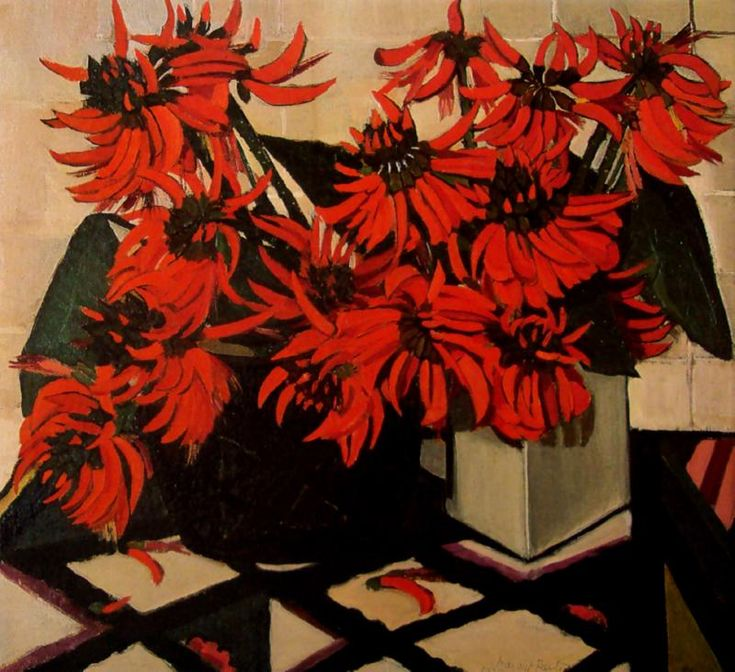 Coral Flowers - I like this oil by Margaret Preston. I am a fan of her printmaking as well. S