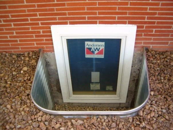 Anderson Windows Reviews >> Metal well, Anderson window. | Egress Window | Pinterest | Window and Egress window
