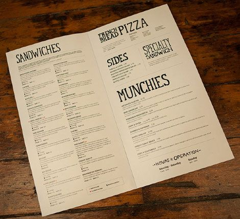 Menu Design Ideas italian pizza parlor menu postcard flyer advertisement design ideas Founders Brewing Menu