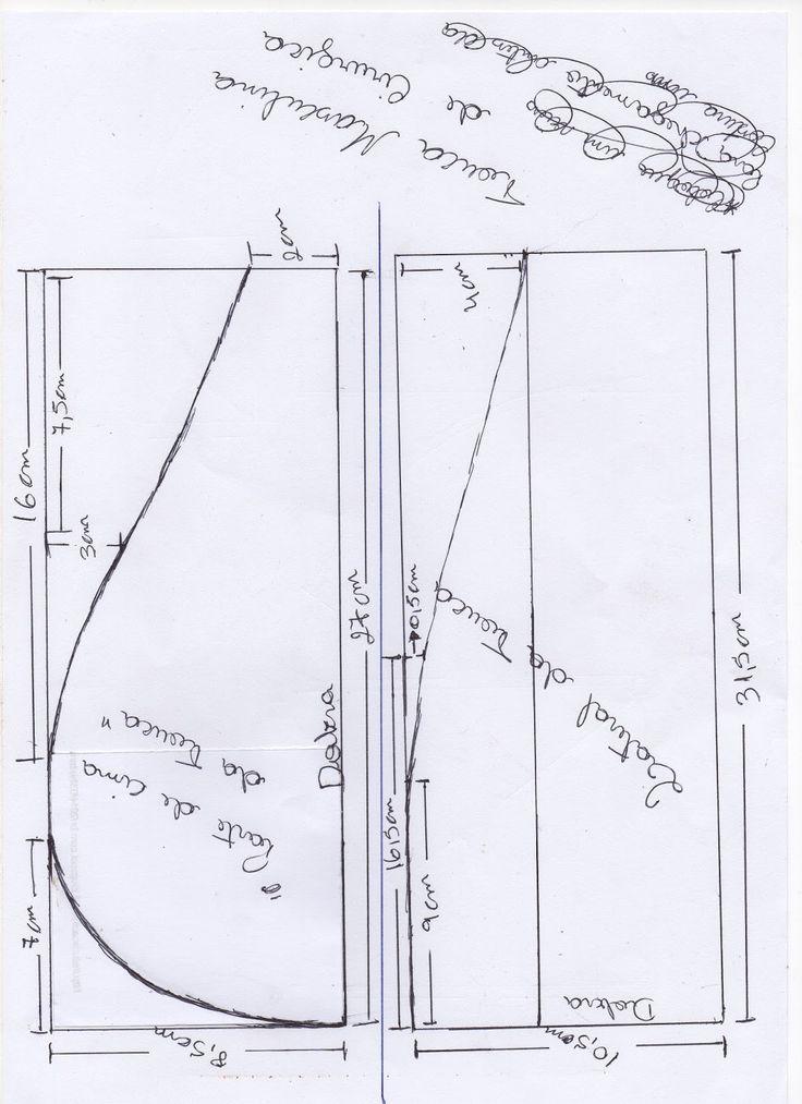 Molde de touca cirúrgica masculina Eu procurava tanto mais ninguém e nenhum site ensinava a como fazer a touca cirúrgica ...