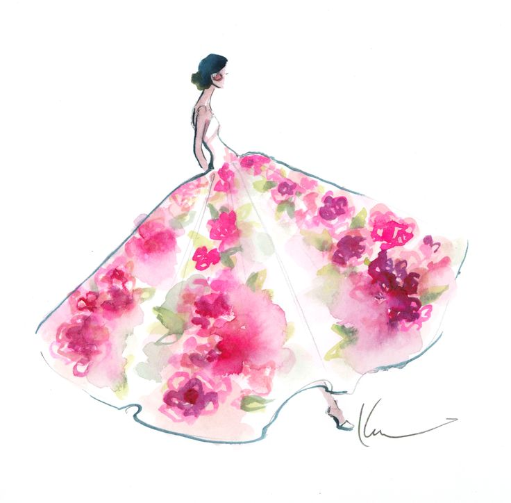 Beautiful. Katie Rodgers illustrates the D gown worn by Sonam Kapoor on the Red Carpet of the Cannes Film Festival #fashionillustration #cannes