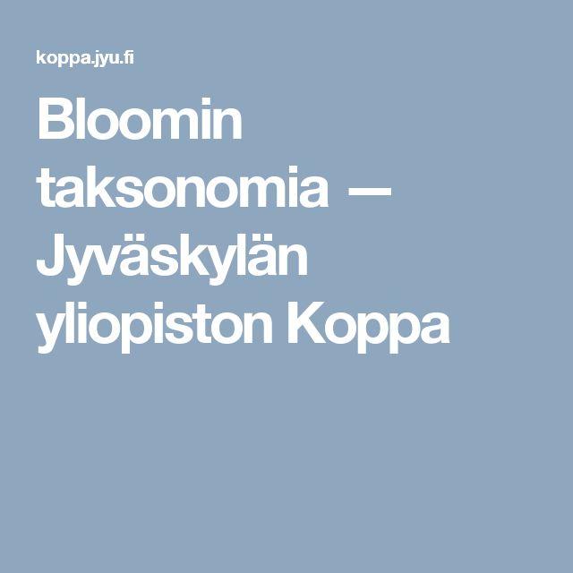 Bloomin taksonomia — Jyväskylän yliopiston Koppa