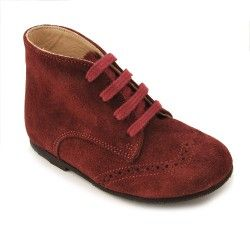 Wine Suede Boys Lace-up Classic Children's Boots