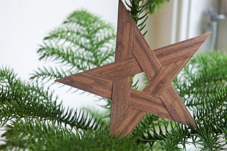 DIY: fem-takket julestjerne - StyleDesignCreate