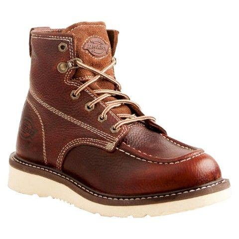 Men's Dickies® Trader Genuine Leather Work Boots - Red Oak