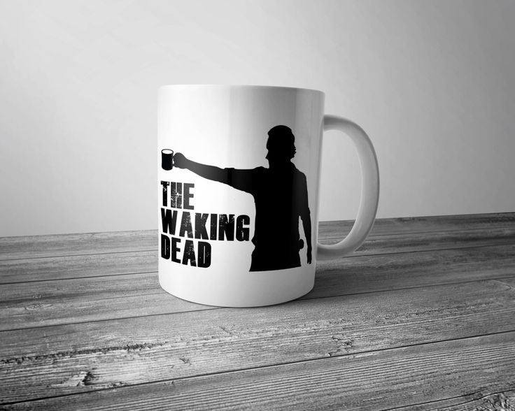 The Waking Dead Coffee Mug 11 oz White Ceramic Sublimation Cup Walking Dead Parody Funny Coffee Humor by WesternKyRustic on Etsy
