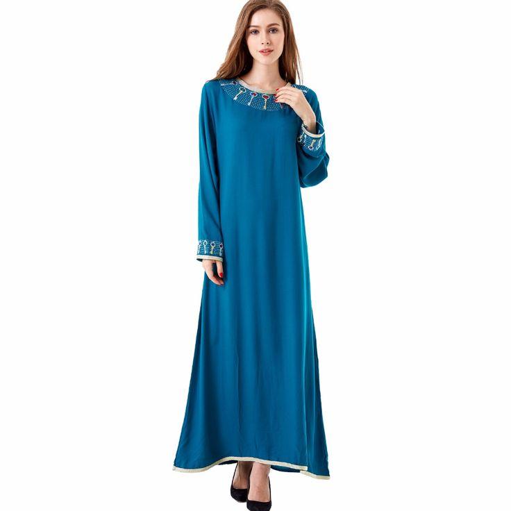 Muslim Kaftan Maxi black Long sleeve Islamic Abaya Dress     Tag a friend who would love this!     FREE Shipping Worldwide | Brunei's largest e-commerce site.    Buy one here---> https://mybruneistore.com/muslim-kaftan-maxi-black-long-sleeve-long-dress-moroccan-clothing-islamic-abaya-arab-dubai-jalabiya-autumn-robe-women-gown-1623/