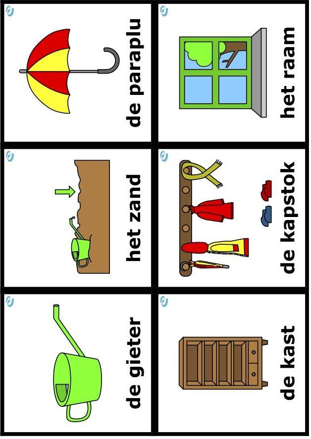 woordkaarten uk en puk thema regen