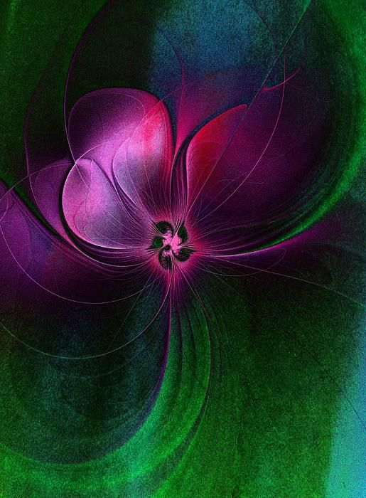 © Passion Flower / Fractal art by Amanda Moore